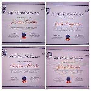 Certificates AICR Mentors of Switzerland